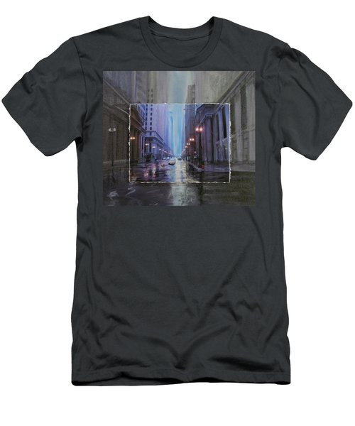 Chicago Rainy Street Expanded Men's T-Shirt (Athletic Fit)