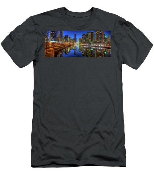 Chicago River East Men's T-Shirt (Athletic Fit)
