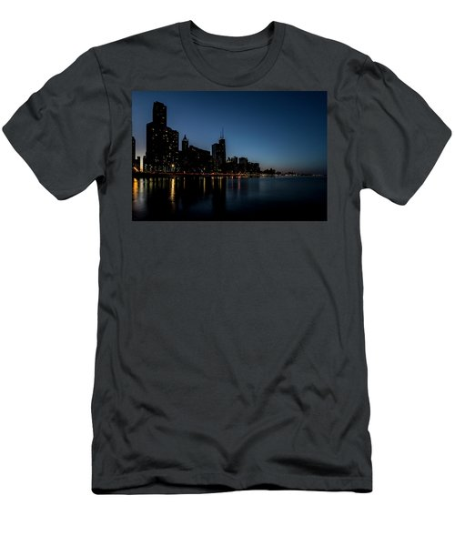 Chicago Skyline From Olive Park  Men's T-Shirt (Athletic Fit)