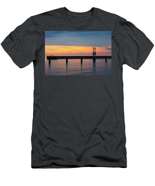Men's T-Shirt (Slim Fit) featuring the photograph Chicago Sunrise At North Ave. Beach by Adam Romanowicz