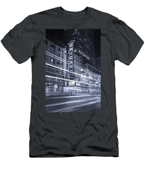 Chicago Theater Marquee B And W Men's T-Shirt (Athletic Fit)