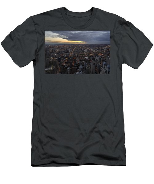 Men's T-Shirt (Athletic Fit) featuring the photograph Chicago Westward by Steven Sparks