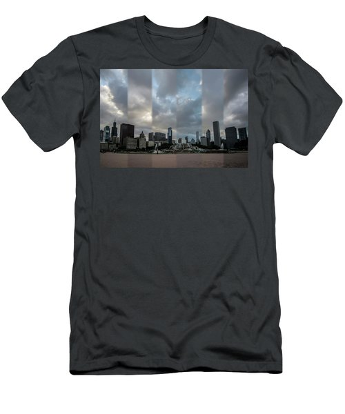 Chicago's Buckingham Fountain Time Slice Photo Men's T-Shirt (Athletic Fit)