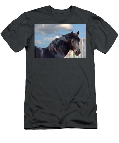Chief - Windy Portrait Series 1 - Digitalart Men's T-Shirt (Athletic Fit)