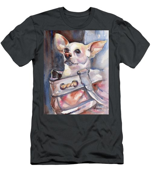 Chihuahua Men's T-Shirt (Slim Fit) by Maria's Watercolor