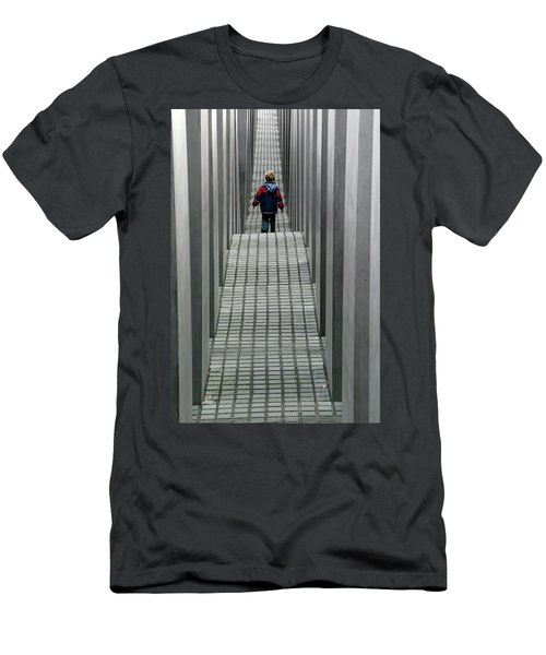 Men's T-Shirt (Athletic Fit) featuring the photograph Child In Berlin by KG Thienemann