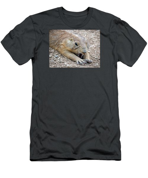 Chillin' Prairie Dog Men's T-Shirt (Slim Fit) by Elaine Malott