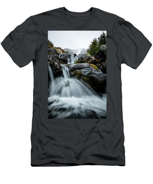 Men's T-Shirt (Athletic Fit) featuring the photograph Chilly Spring Shower by Tim Newton