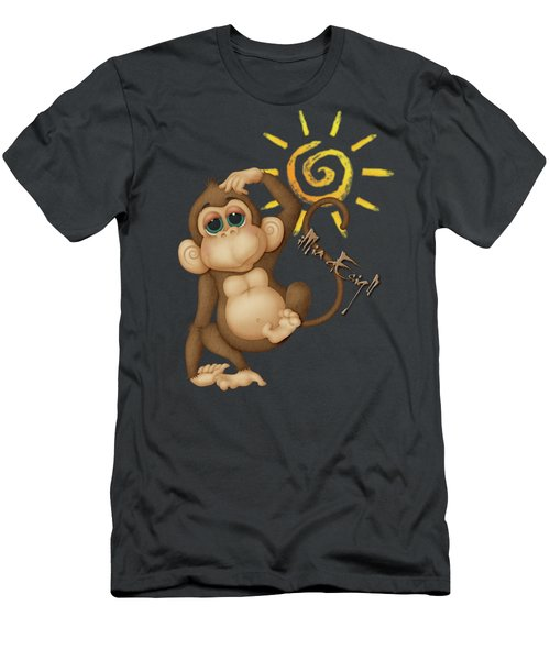 Chimpanzees, Mother And Baby Men's T-Shirt (Athletic Fit)
