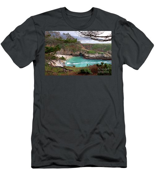 China Cove At Point Lobos Men's T-Shirt (Athletic Fit)