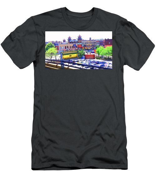 Chinatown Chicago 1 Men's T-Shirt (Slim Fit) by Marianne Dow
