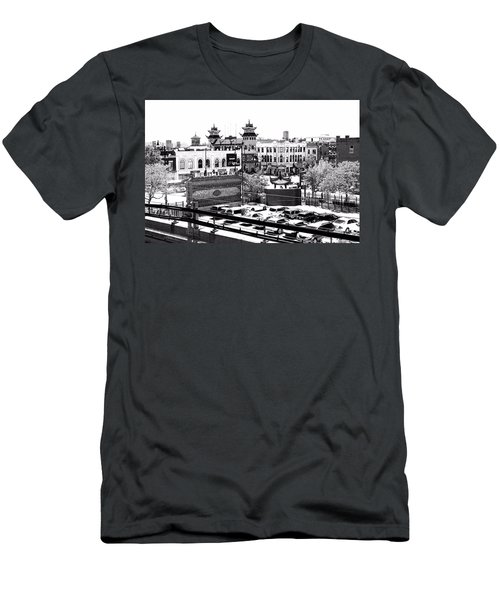 Chinatown Chicago 4 Men's T-Shirt (Slim Fit) by Marianne Dow