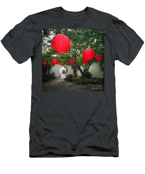 Chinese Tea Garden In Portland, Oregon Men's T-Shirt (Athletic Fit)
