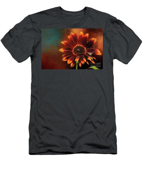 Chocolate Sunflower Men's T-Shirt (Athletic Fit)