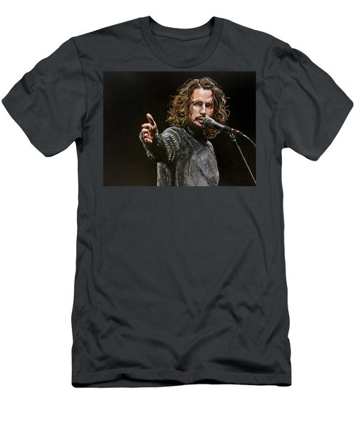 Men's T-Shirt (Athletic Fit) featuring the painting Chris Cornell by Joel Tesch