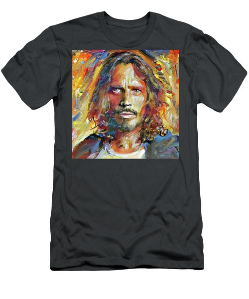 Chris Cornell Tribute 2017 Portrait Men's T-Shirt (Athletic Fit)