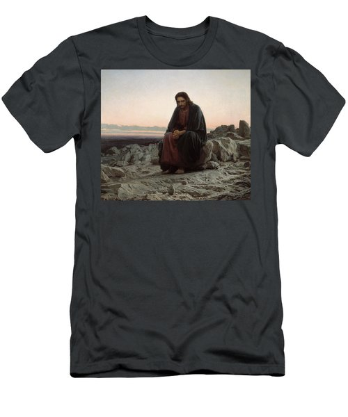 Christ In The Desert Men's T-Shirt (Athletic Fit)
