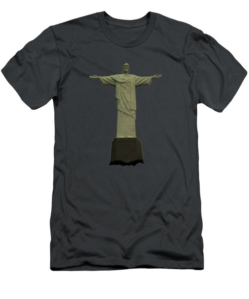 Christ The Redeemer Brazil Men's T-Shirt (Athletic Fit)