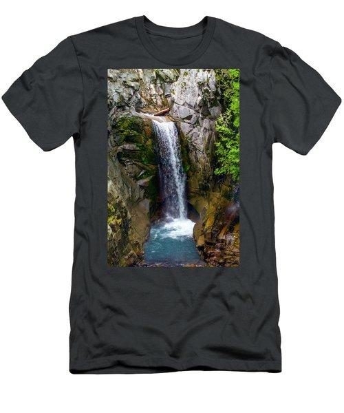 Christine Falls Mt Rainier Men's T-Shirt (Athletic Fit)