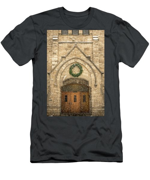 Christmas At Stone Chapel Men's T-Shirt (Athletic Fit)