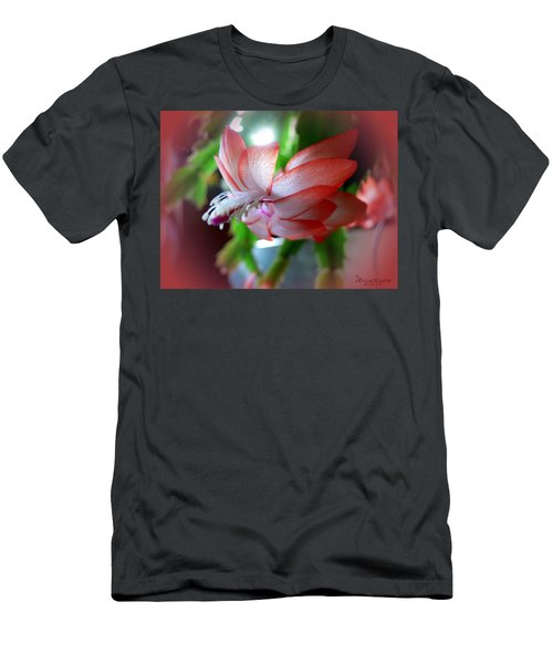 Christmas Cactus Men's T-Shirt (Slim Fit) by EricaMaxine  Price