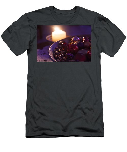 Christmas Candlelight Men's T-Shirt (Athletic Fit)