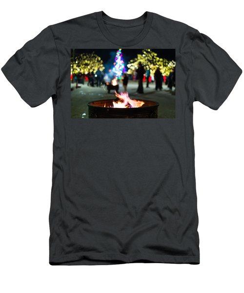 Christmas Fire Pit Men's T-Shirt (Athletic Fit)