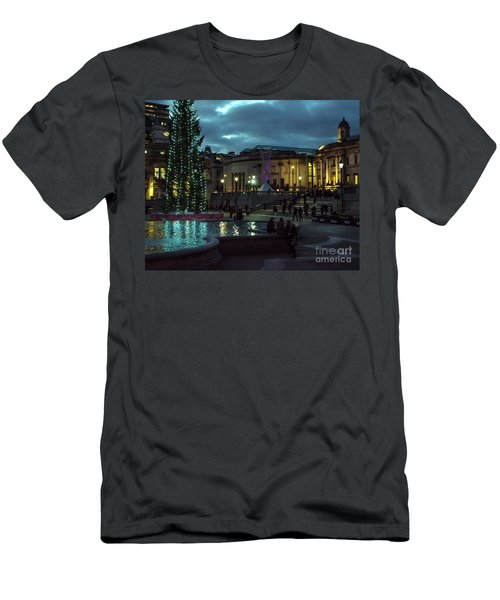 Christmas In Trafalgar Square, London 2 Men's T-Shirt (Athletic Fit)