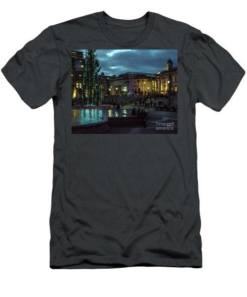 Christmas In Trafalgar Square, London 2 Men's T-Shirt (Athletic Fit)