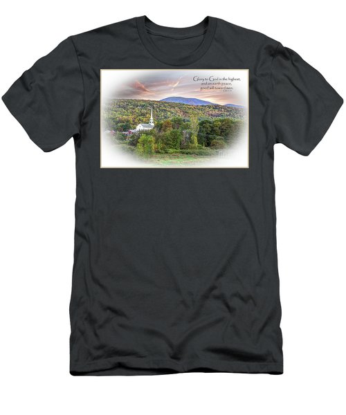 Christmas In Vermont Men's T-Shirt (Athletic Fit)