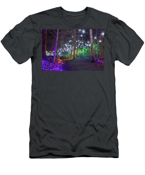 Christmas Lights Decoration Along Lafarge Lake Path Men's T-Shirt (Athletic Fit)