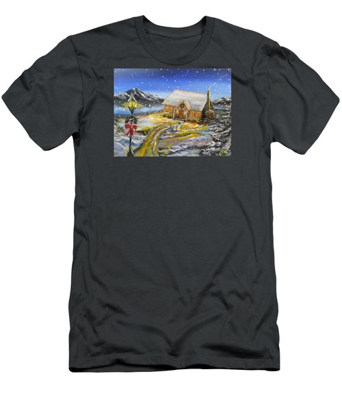 Christmas On The Bay Men's T-Shirt (Athletic Fit)