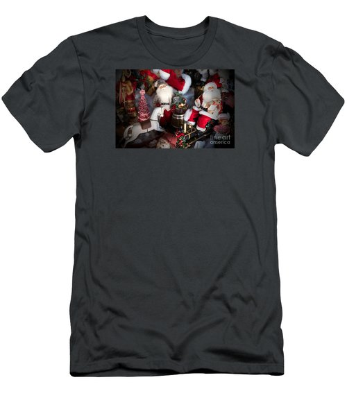 Men's T-Shirt (Slim Fit) featuring the photograph Christmas Rocking Horse II by Vinnie Oakes