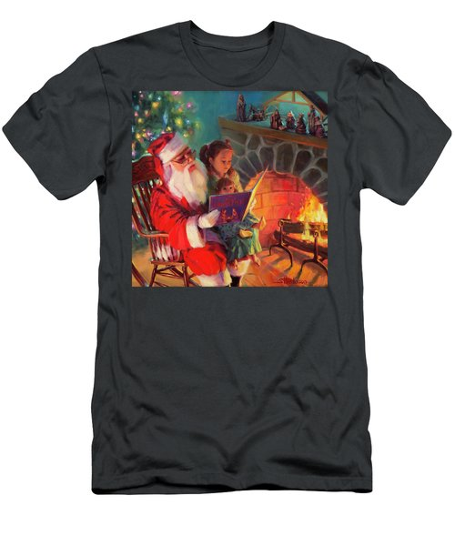 Men's T-Shirt (Athletic Fit) featuring the painting Christmas Story by Steve Henderson