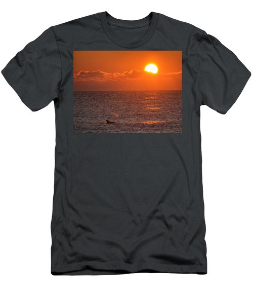 Men's T-Shirt (Slim Fit) featuring the photograph Christmas Sunrise On The Atlantic Ocean by Sumoflam Photography