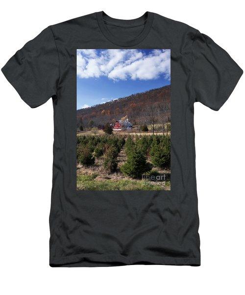 Christmas Tree Shopping Men's T-Shirt (Slim Fit) by Nicki McManus