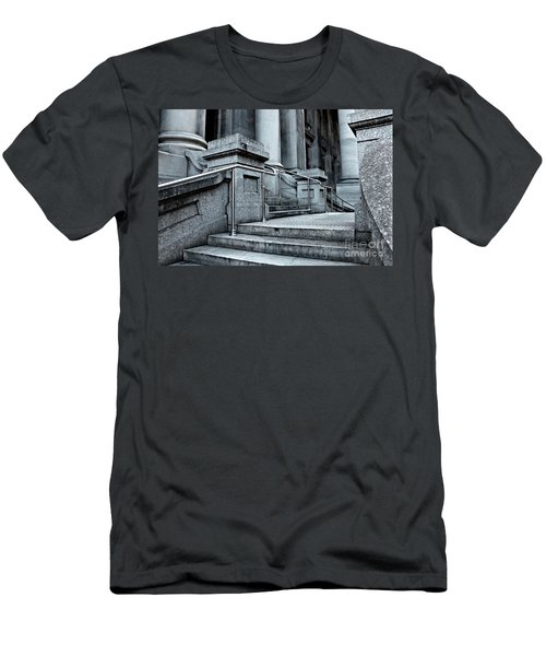 Men's T-Shirt (Athletic Fit) featuring the photograph Chrome Balustrade by Stephen Mitchell