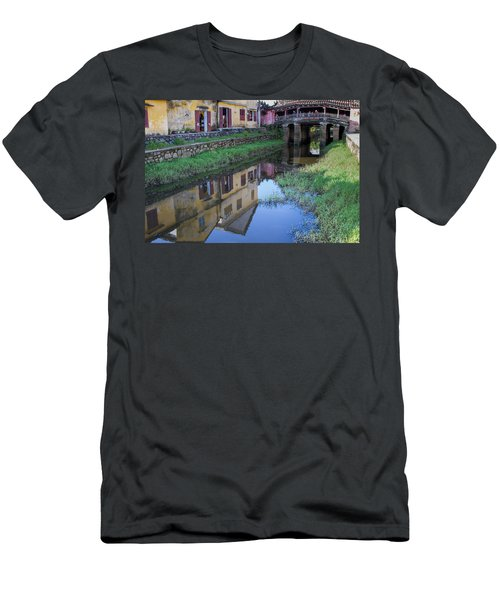 Men's T-Shirt (Slim Fit) featuring the photograph Chua Cau Reflection by Hitendra SINKAR