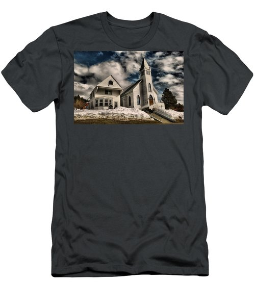 Men's T-Shirt (Slim Fit) featuring the photograph Church Of The Immaculate Conception Roslyn Wa by Jeff Swan