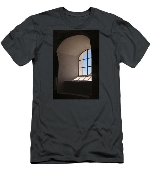 Men's T-Shirt (Slim Fit) featuring the photograph Church Window by Inge Riis McDonald