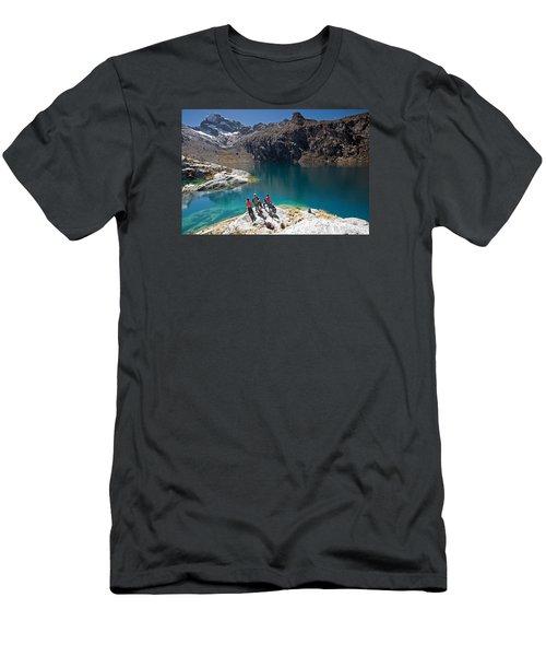 Churup Lake Men's T-Shirt (Athletic Fit)
