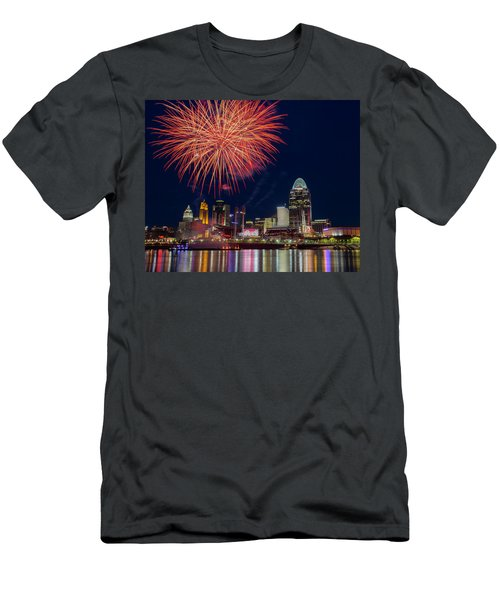 Cincinnati Fireworks Men's T-Shirt (Athletic Fit)