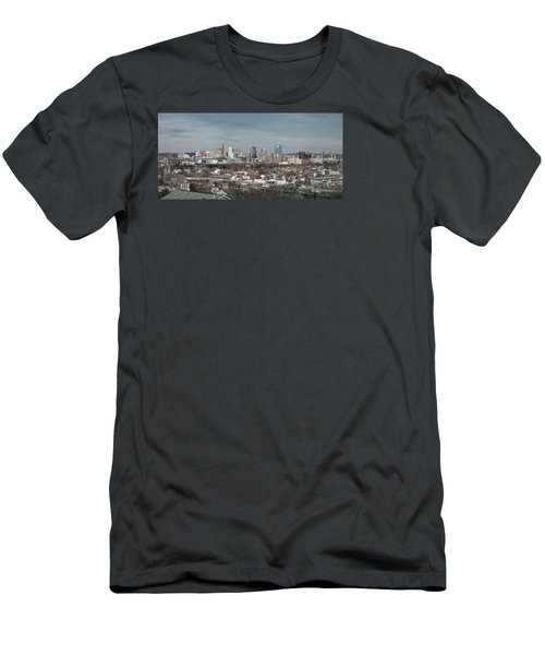 Cincinnati Panorama  Men's T-Shirt (Slim Fit) by Scott Meyer