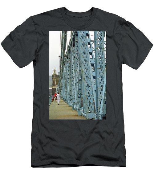 Cincinnati - Roebling Bridge 3 Men's T-Shirt (Slim Fit) by Frank Romeo