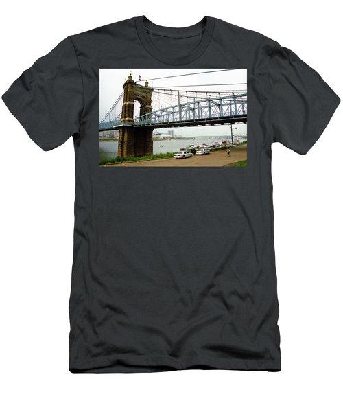 Cincinnati - Roebling Bridge 5 Men's T-Shirt (Slim Fit) by Frank Romeo