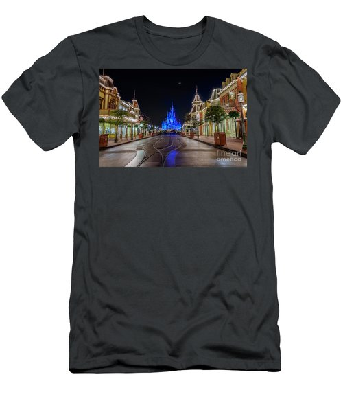 Cinderella Castle Glow Over Main Street Usa Men's T-Shirt (Athletic Fit)
