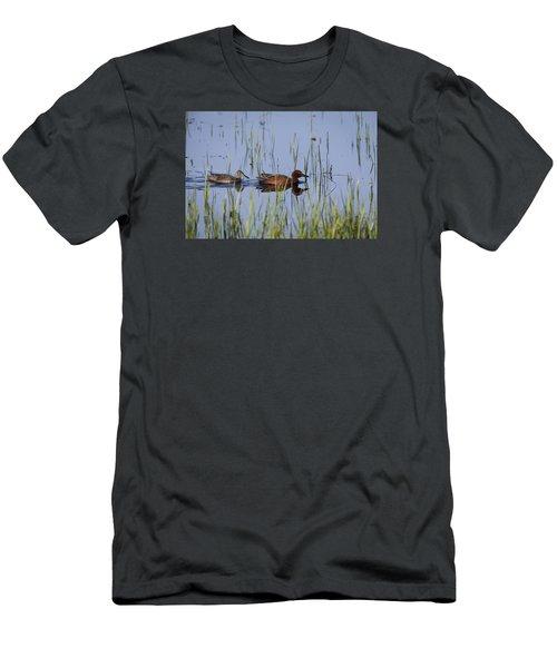 Cinnamon Teal Pair Men's T-Shirt (Athletic Fit)