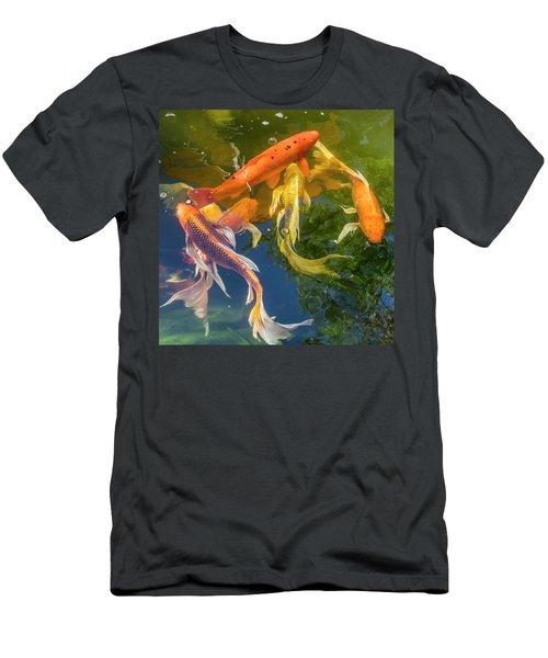 Circle Of Koi Men's T-Shirt (Athletic Fit)