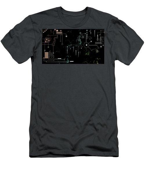 Circuit Board Men's T-Shirt (Slim Fit) by Carol Crisafi