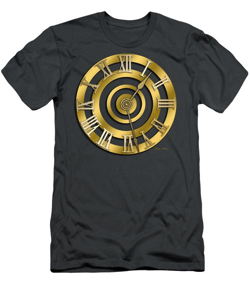 Circular Clock Design Men's T-Shirt (Athletic Fit)